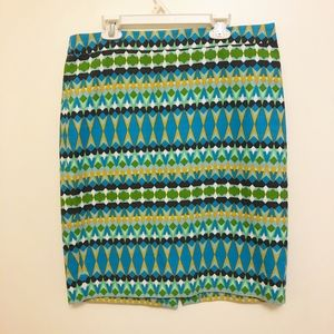 J Crew The Pencil Skirt Basket weave Size 6